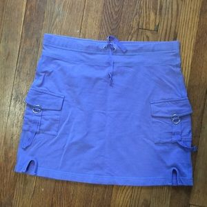 Athleta Drawstring Cargo Skirt Lavender/Purple